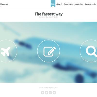 Modèle Web Bootstrap  pour site de ligne aérienne privée