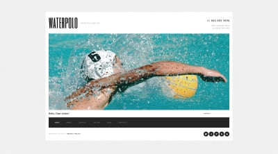 Modèle Web Bootstrap  pour site de polo
