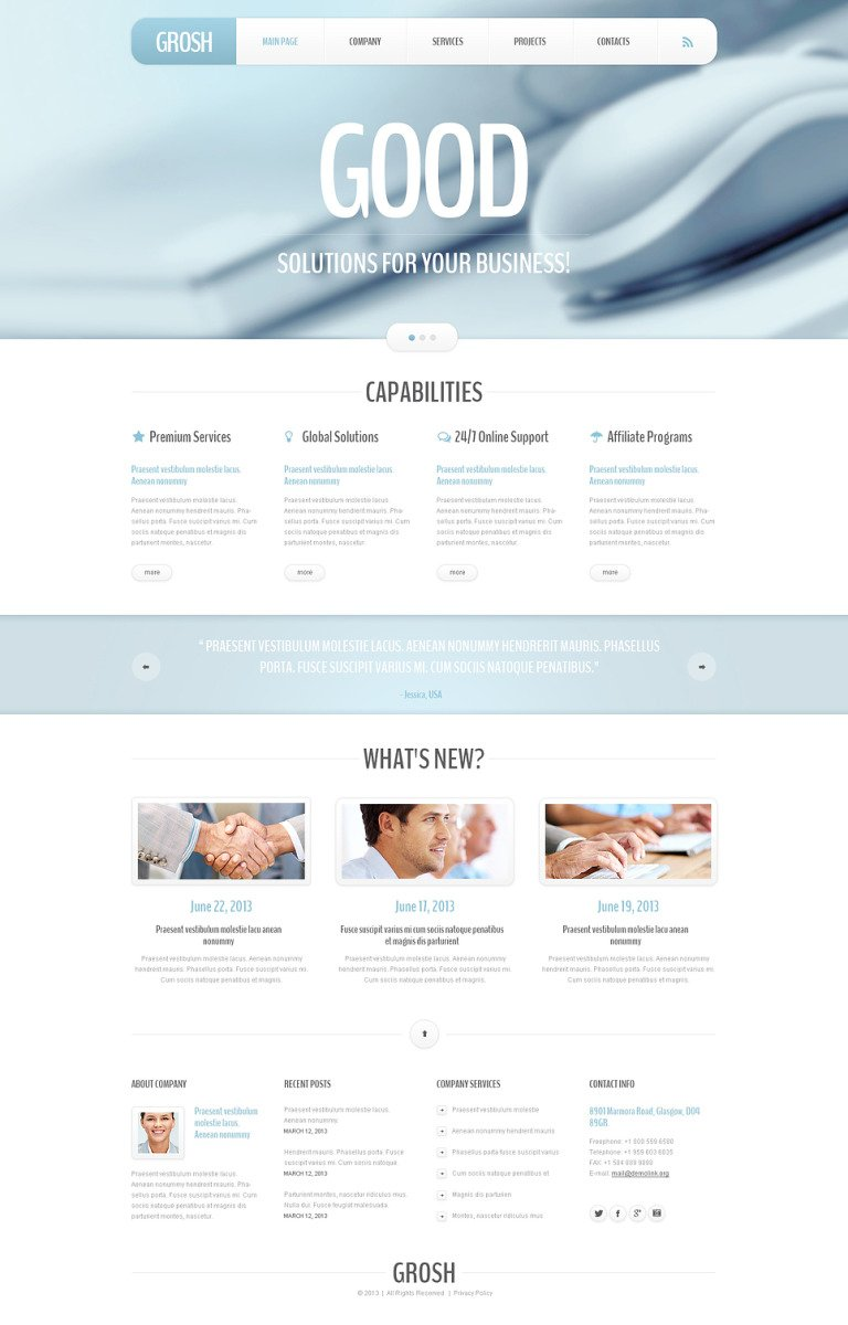 Outsourcing Company Responsive Joomla Template New Screenshots BIG