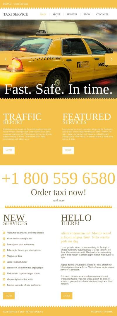 Plantilla Facebook HTML CMS #46893 para Sitio de  para Sitio de Taxi
