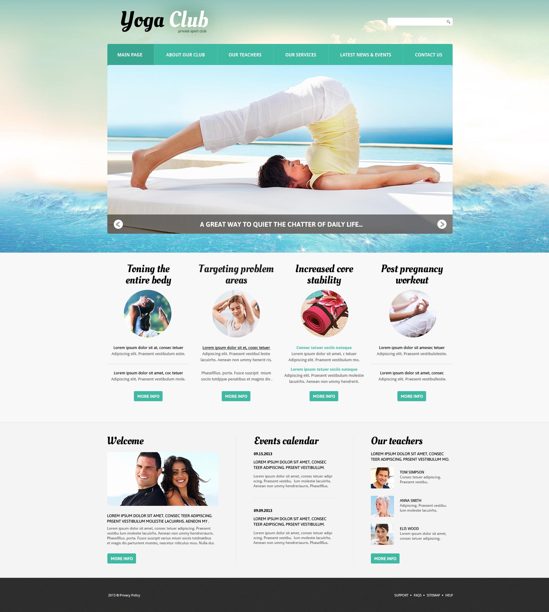 Plantilla Joomla #46830 para Sitio de Yoga