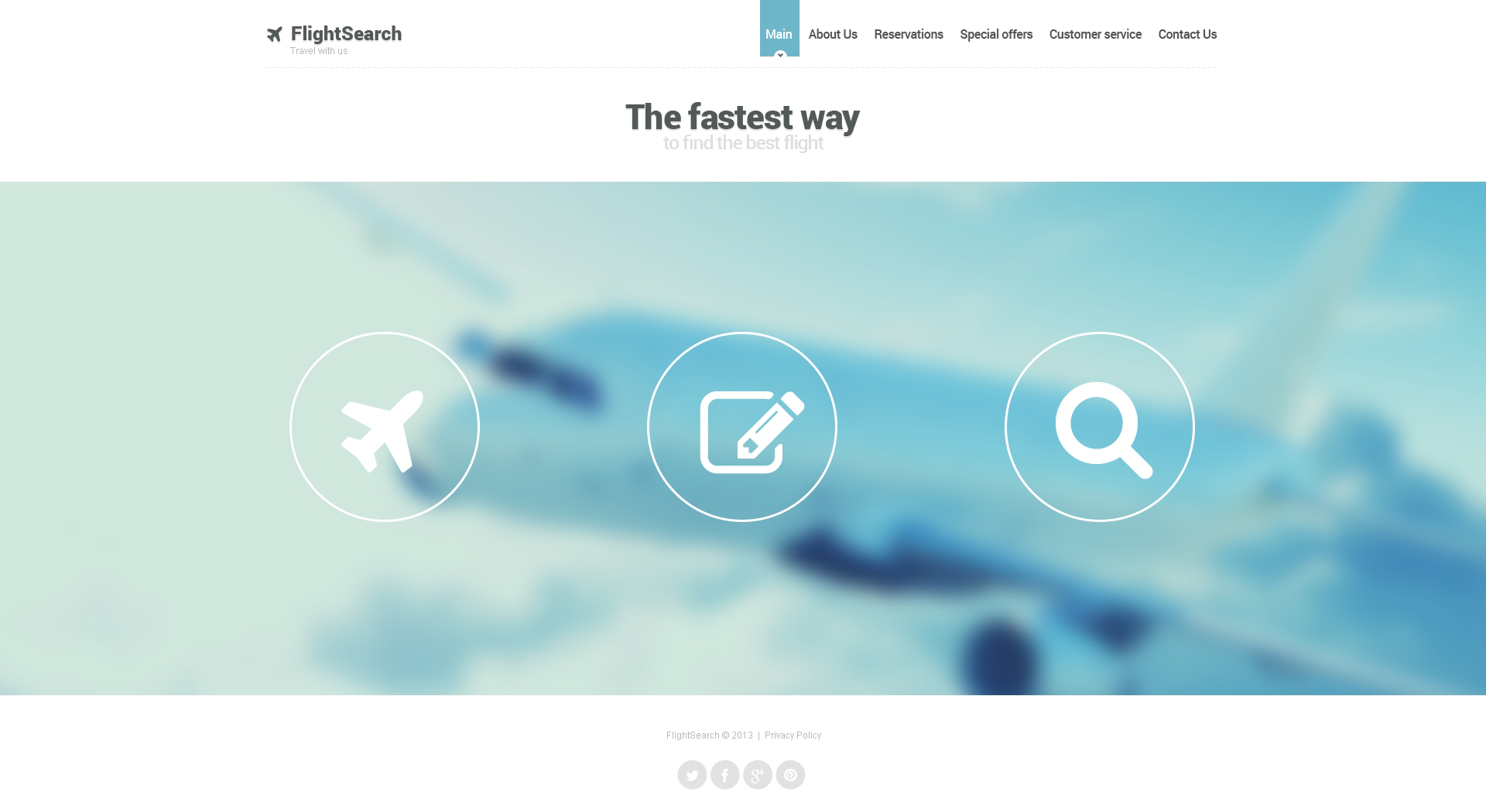 Private Airline Website Template