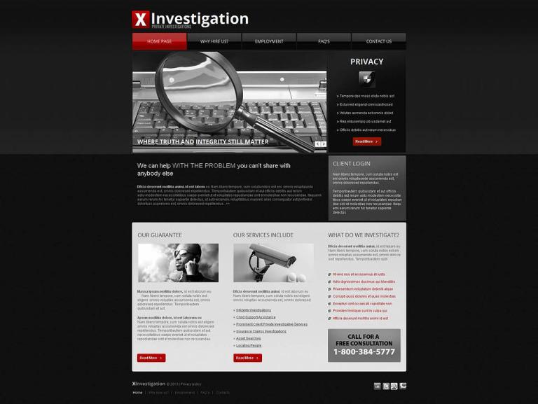 Private Investigator Moto CMS HTML Template New Screenshots BIG