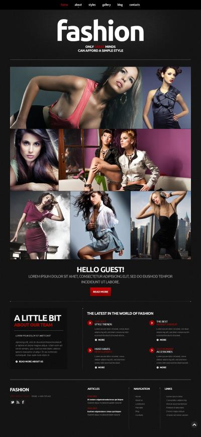 Responsywny szablon Joomla #46834 na temat: blog o modzie