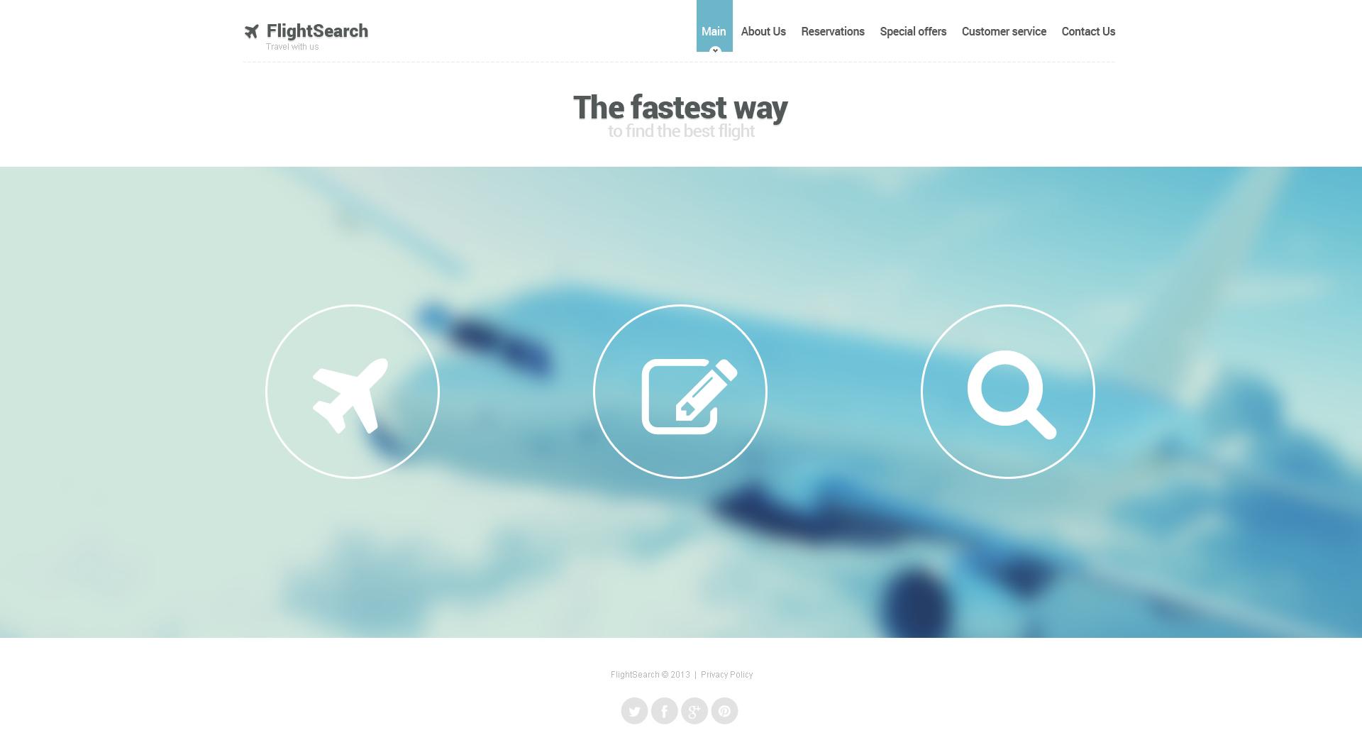 Шаблон сайту на тему приватна авіакомпанія №46820