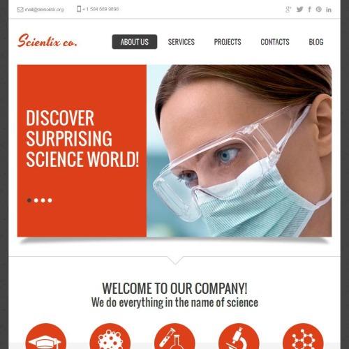Scientix. Co - Facebook HTML CMS Template