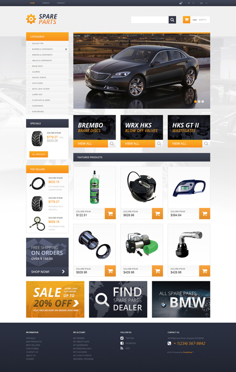 Spares that Serve for Ages PrestaShop Theme New Screenshots BIG