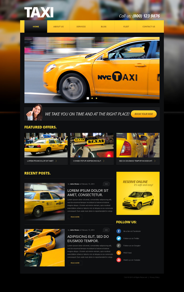 Taxi Center Joomla Template New Screenshots BIG