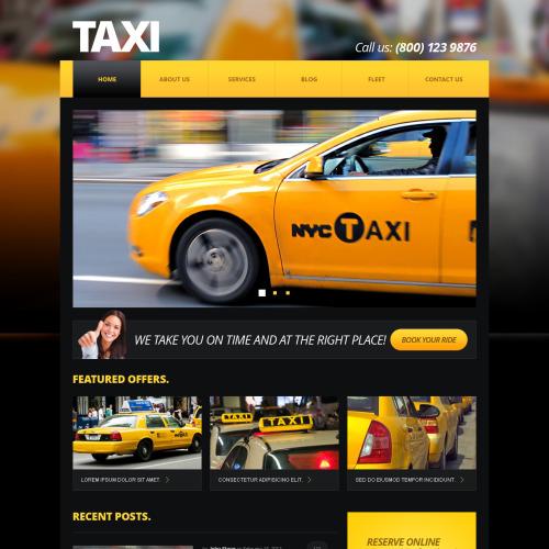 Taxi  - Responsive Joomla! Template