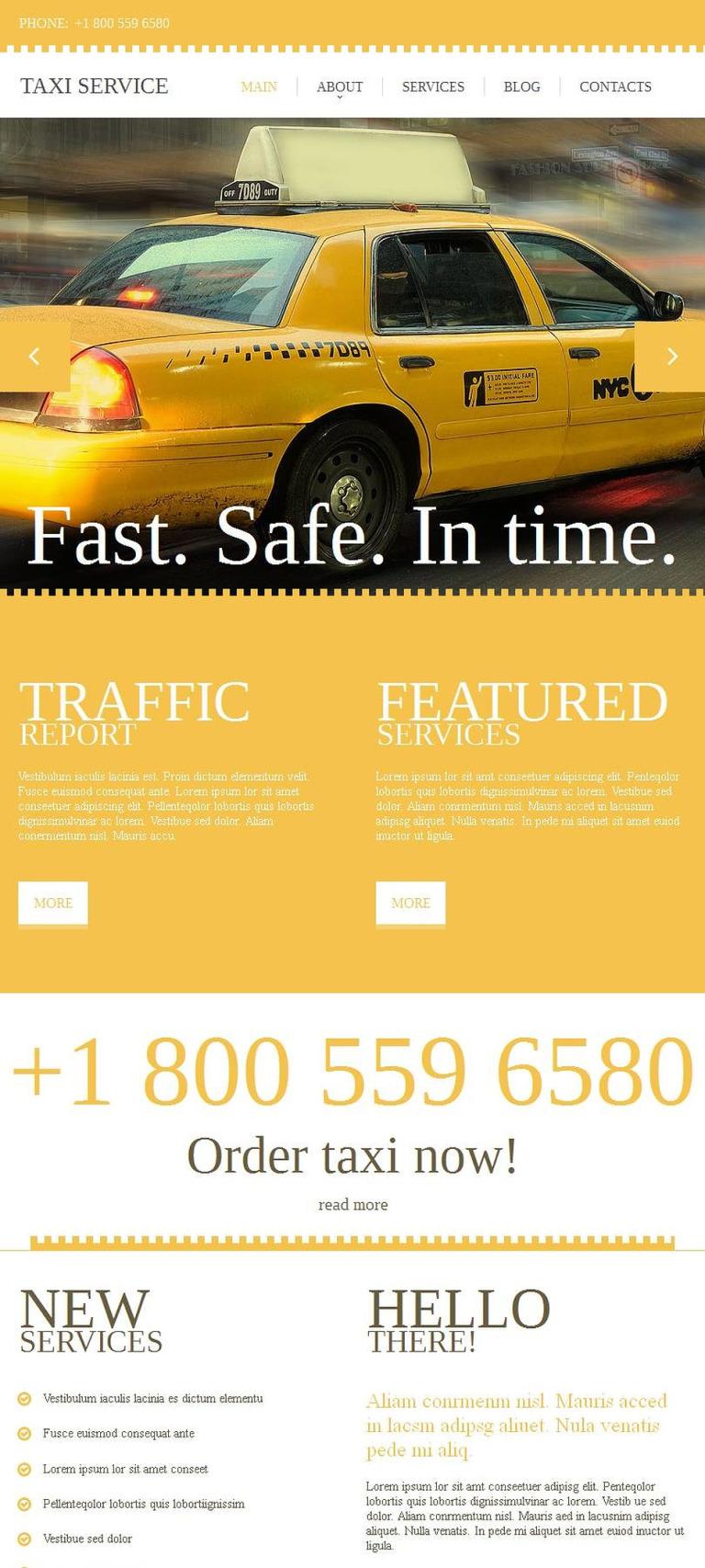 Taxi Facebook HTML CMS Template New Screenshots BIG