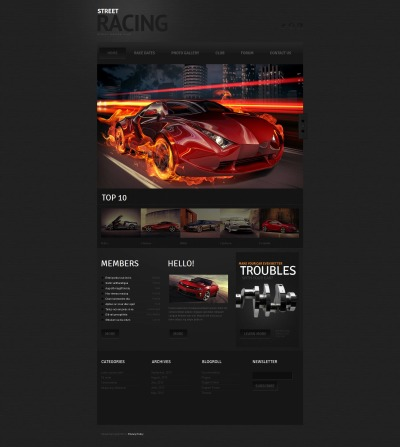 Car Racing Tema Moto CMS HTML
