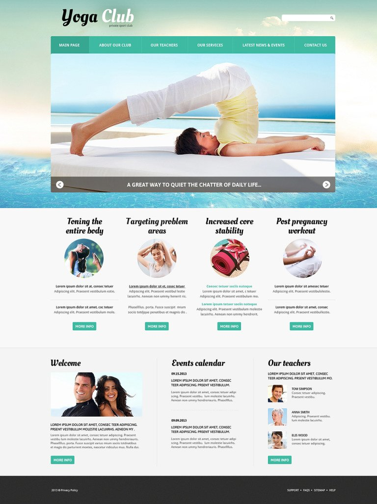 Yoga Practice Joomla Template New Screenshots BIG