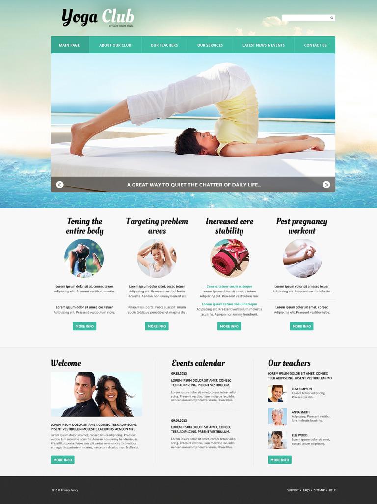 Yoga Practice Joomla Template New Screenshots BIG