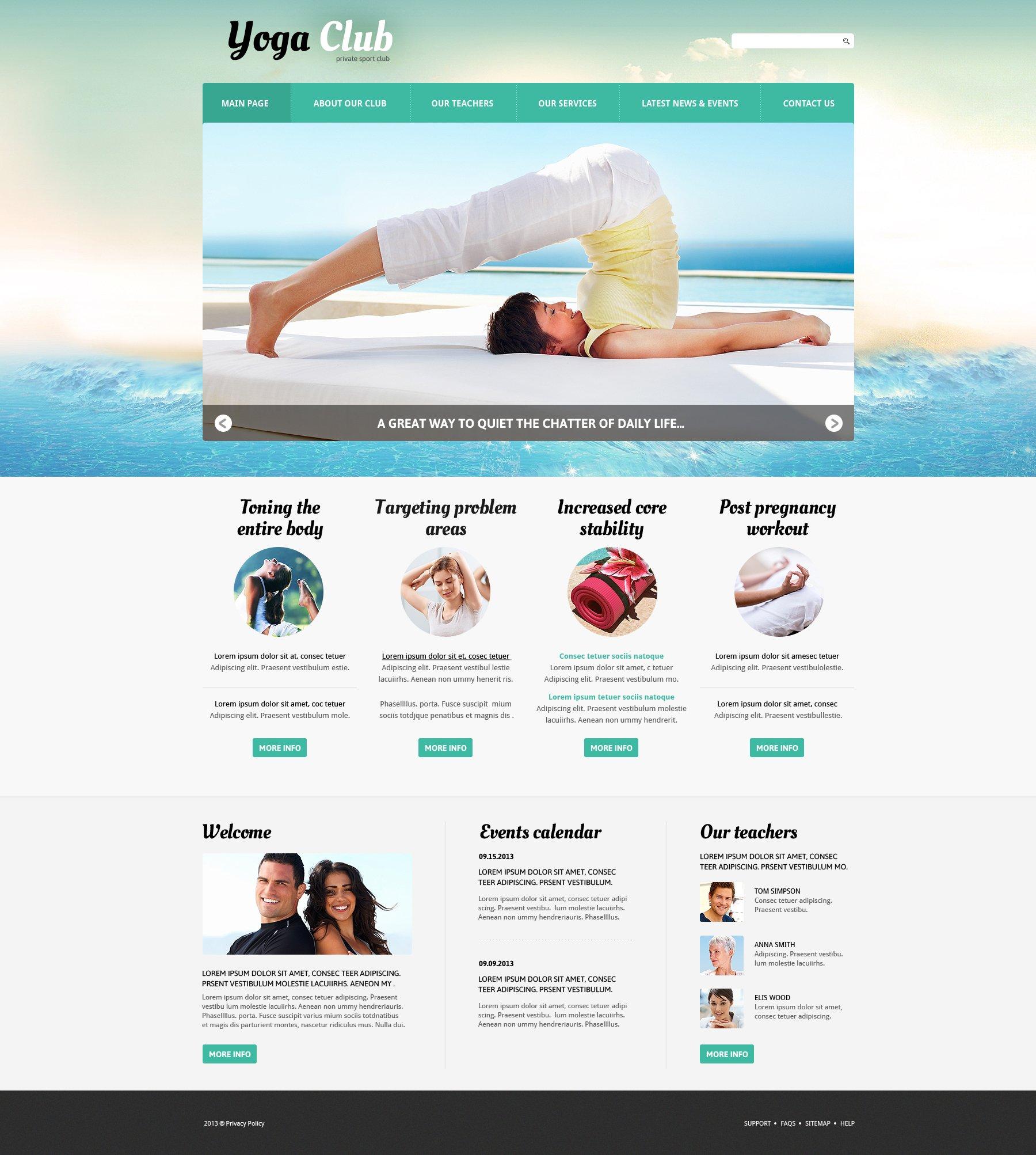 Yoga Practice Joomla Template - screenshot