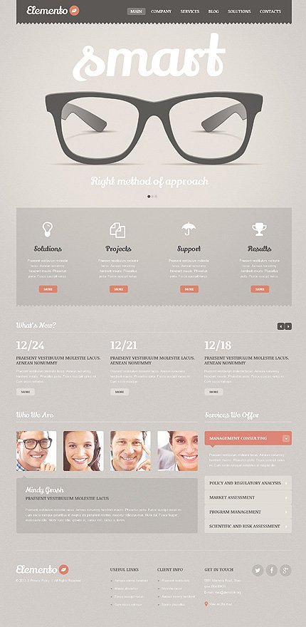 WordPress Theme/Template 46904 Main Page Screenshot