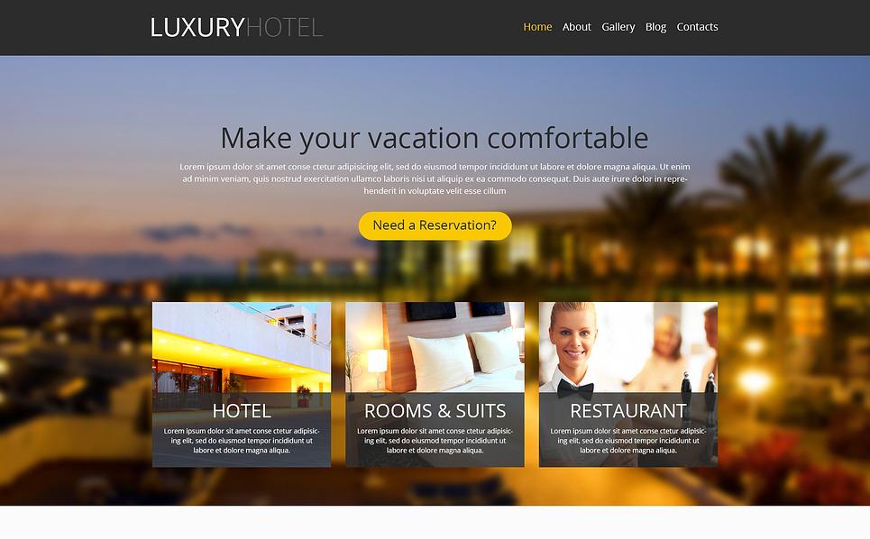 Responsive WordPress thema over Hotels  New Screenshots BIG