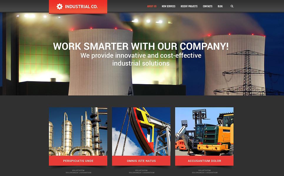 Responzivní WordPress motiv na téma Průmysl New Screenshots BIG