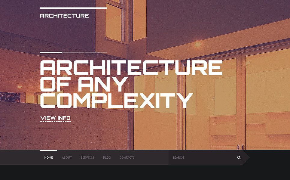 Responsive Website template over Architectuur New Screenshots BIG