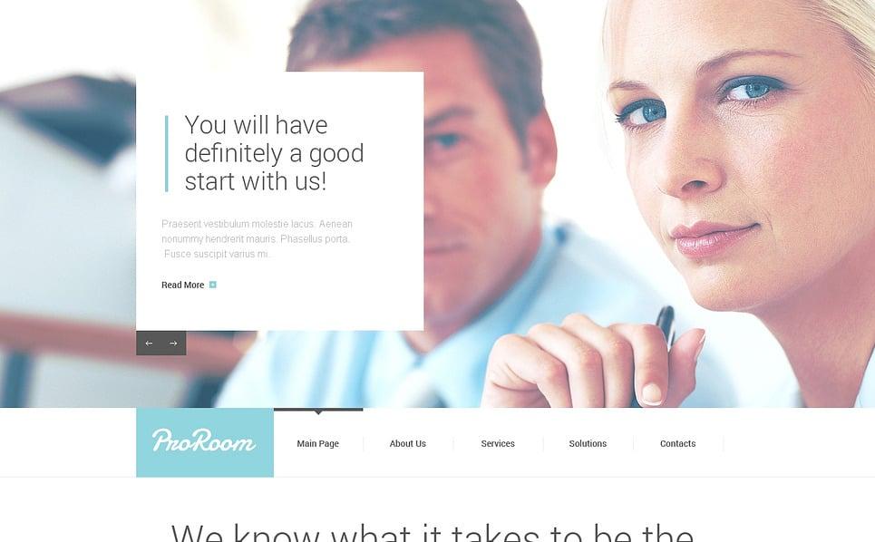 Reszponzív Kiszervezéssel foglalkozó cégek Weboldal sablon New Screenshots BIG