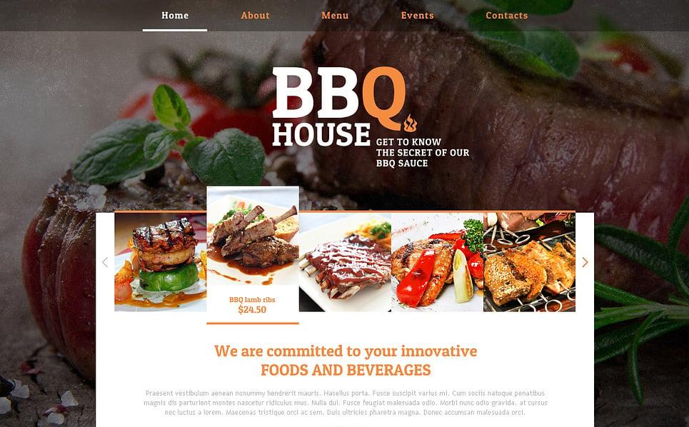 Reszponzív BBQ éttermek Weboldal sablon New Screenshots BIG