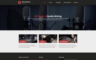 Recording Studio - Music Minimal Responsive HTML Website Template