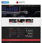 Music Website  Template 46915