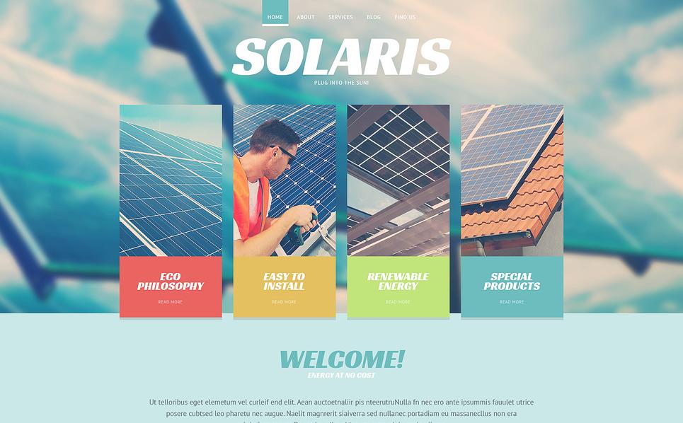 Responsive Website template over Zonne-energie New Screenshots BIG