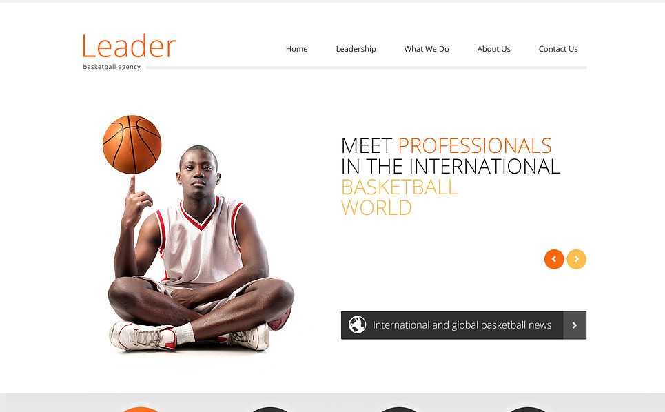 Modèle Web adaptatif  pour site de basketball New Screenshots BIG