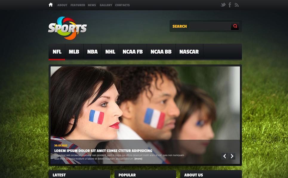 Website template over Sportnieuws New Screenshots BIG