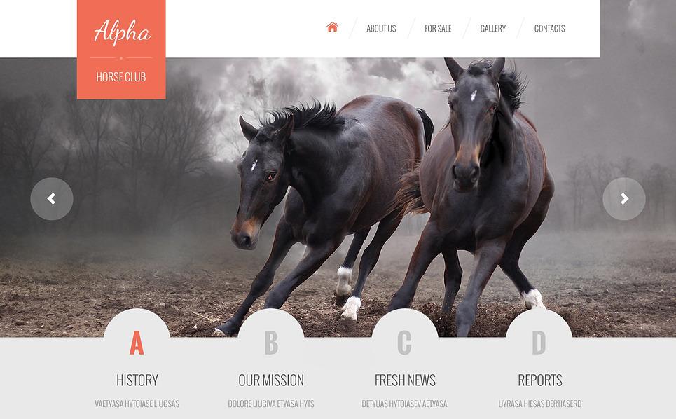 Адаптивний Шаблон сайту на тему коні New Screenshots BIG