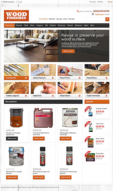 ADOBE Photoshop Template 46926 Home Page Screenshot