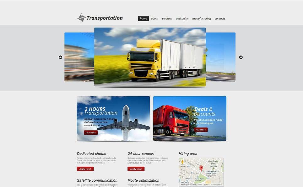 Szablon Moto CMS HTML #46929 na temat: transport ładunków New Screenshots BIG