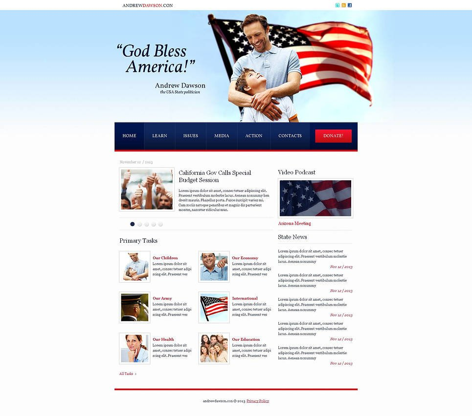Clean Website Template for Political Candidate - image