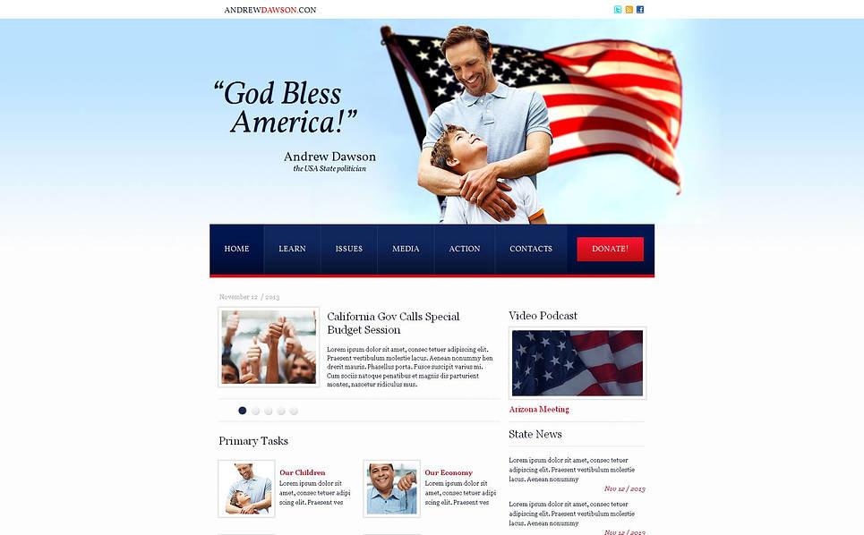 MotoCMS HTML шаблон на тему політична партія New Screenshots BIG