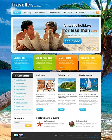 ADOBE Photoshop Template 46935 Home Page Screenshot