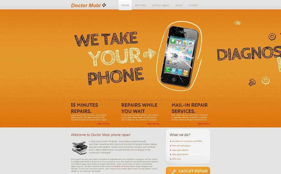 Premium Tamirat Hizmetleri  Moto Cms Html Şablon New Screenshots BIG