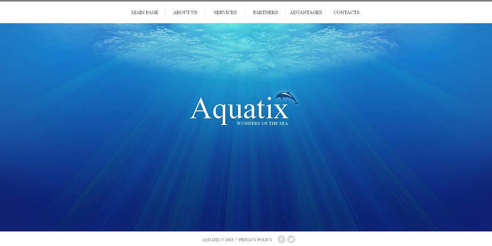 Luxusní Moto CMS HTML šablona na téma Delfíni New Screenshots BIG