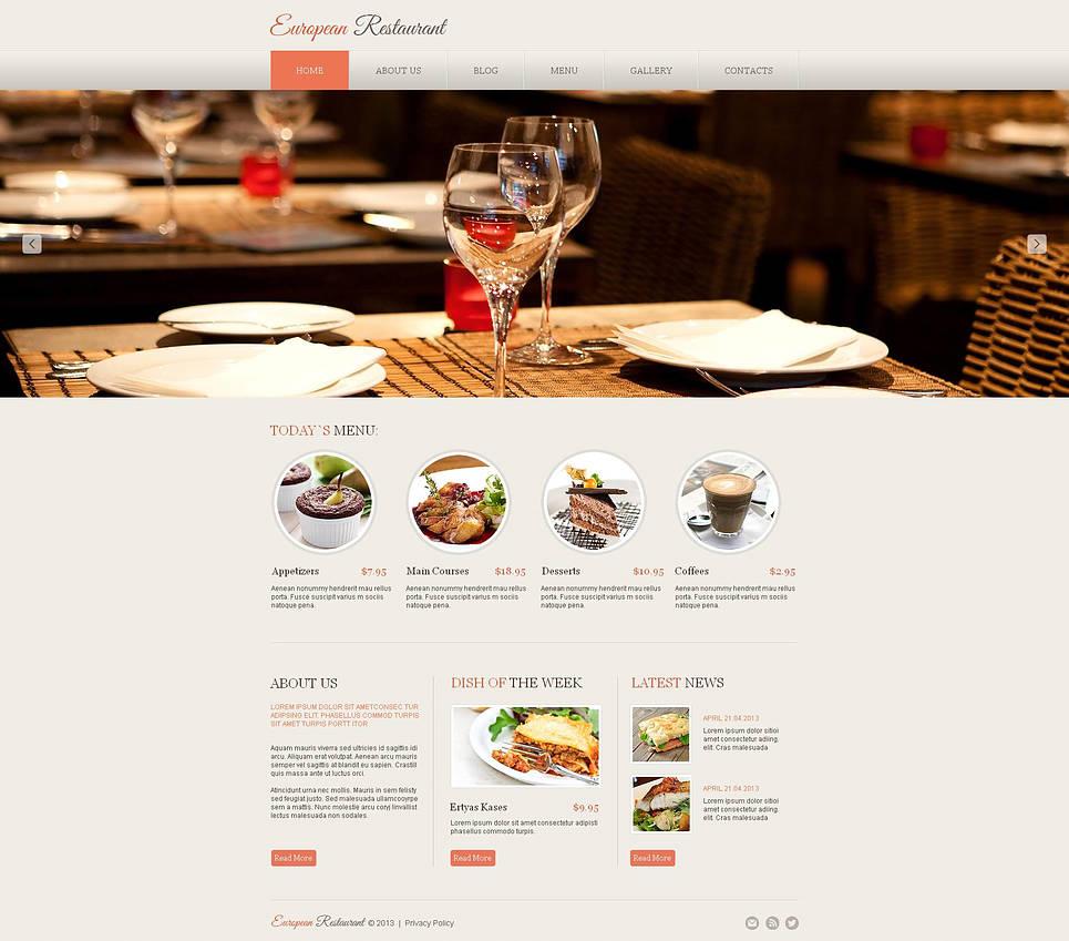 Elegant Website Design for European Restaurants - image