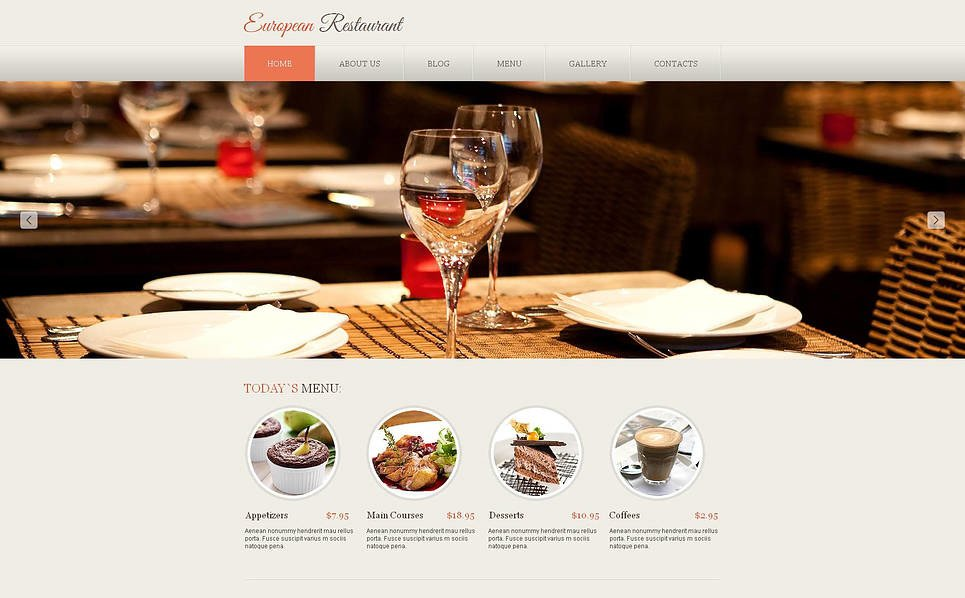 Premium European Restaurant Templates Moto Cms Html Şablon New Screenshots BIG