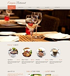 Cafe & Restaurant Moto CMS HTML  Template 46940