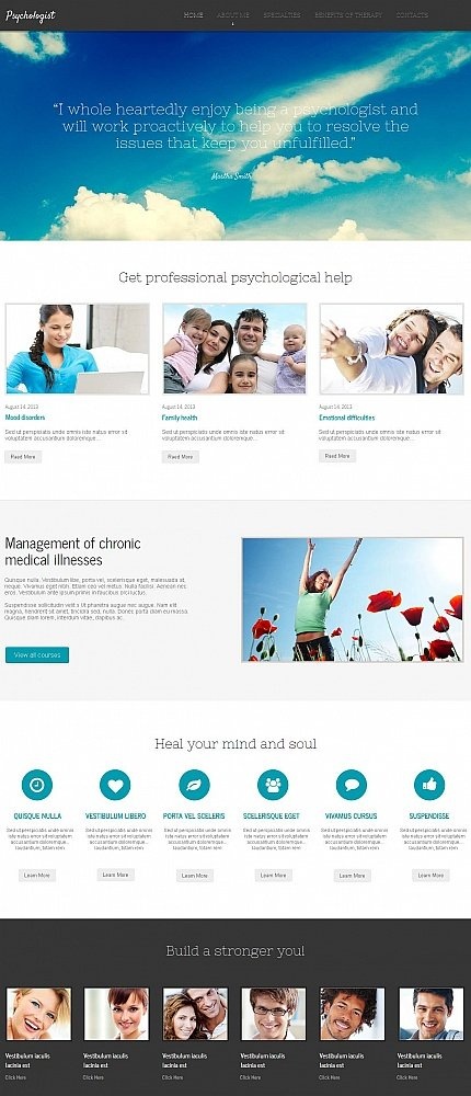 ADOBE Photoshop Template 46945 Home Page Screenshot