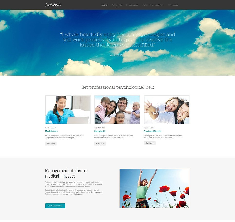 Psychology Website Template for Content-Rich Projects - image