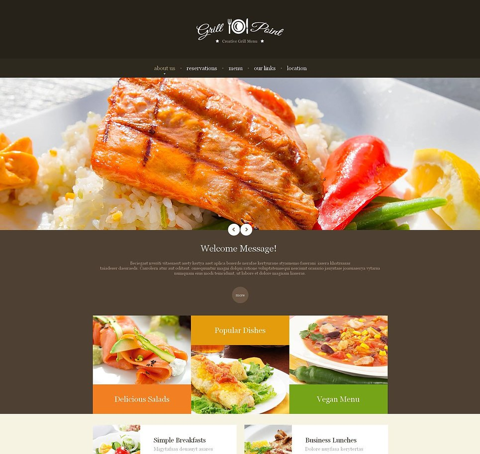 Grill Bar Website Template with a Sliding Gallery - image
