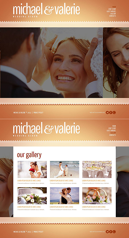 ADOBE Photoshop Template 46948 Home Page Screenshot
