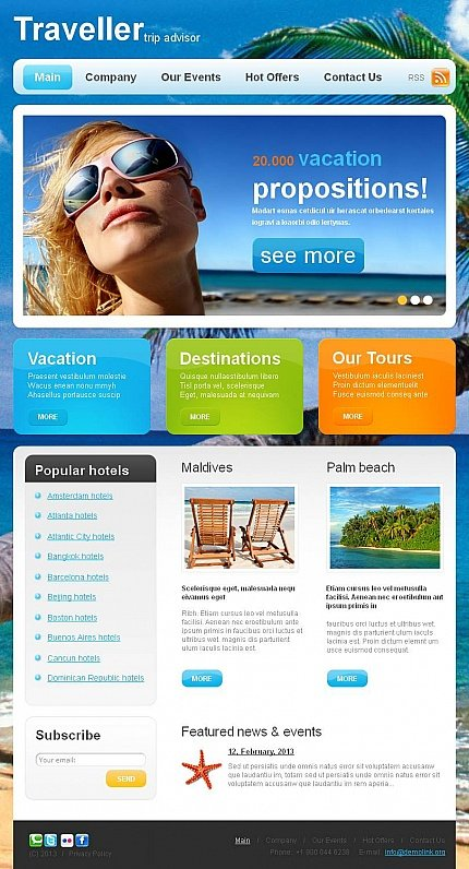 ADOBE Photoshop Template 46966 Home Page Screenshot