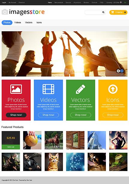 ZenCart Template 46969 Main Page Screenshot