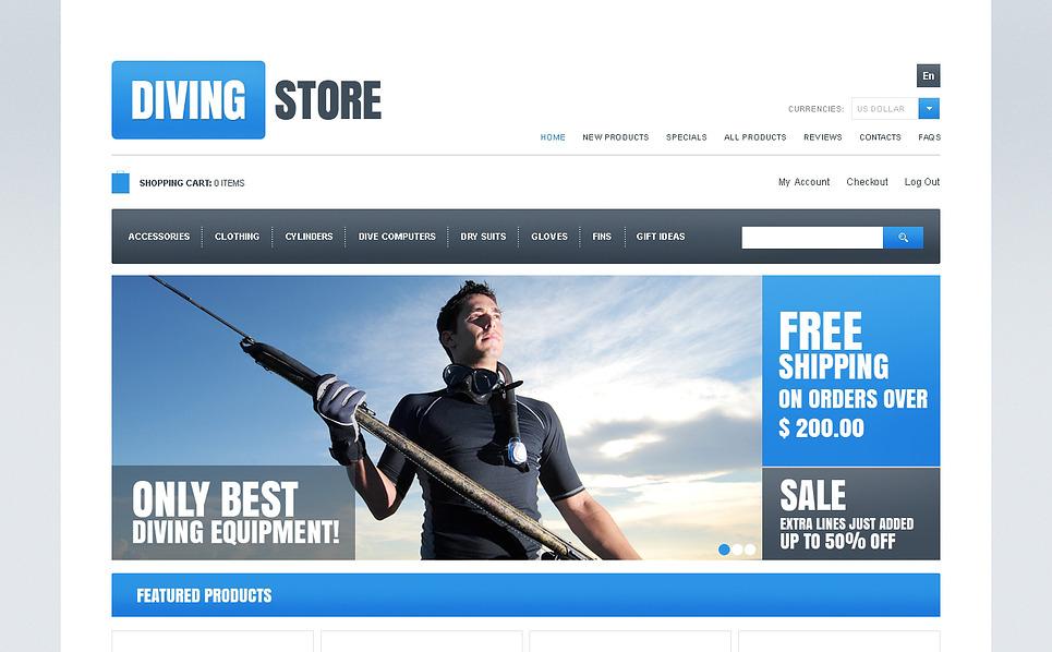 Plantilla ZenCart #46971 para Sitio de Buceo New Screenshots BIG