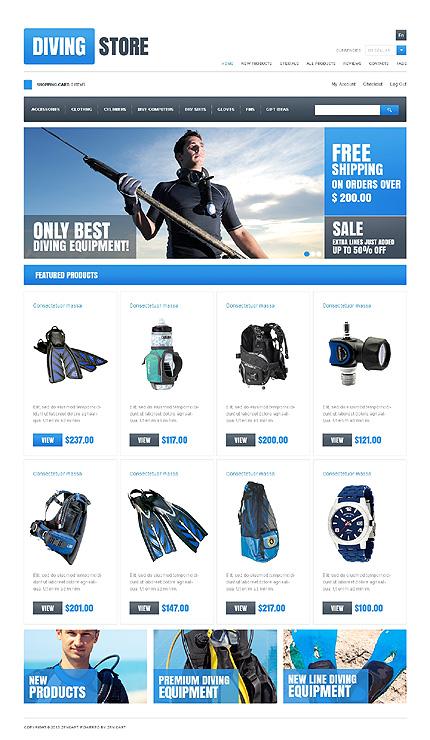 ZenCart Template 46971 Main Page Screenshot