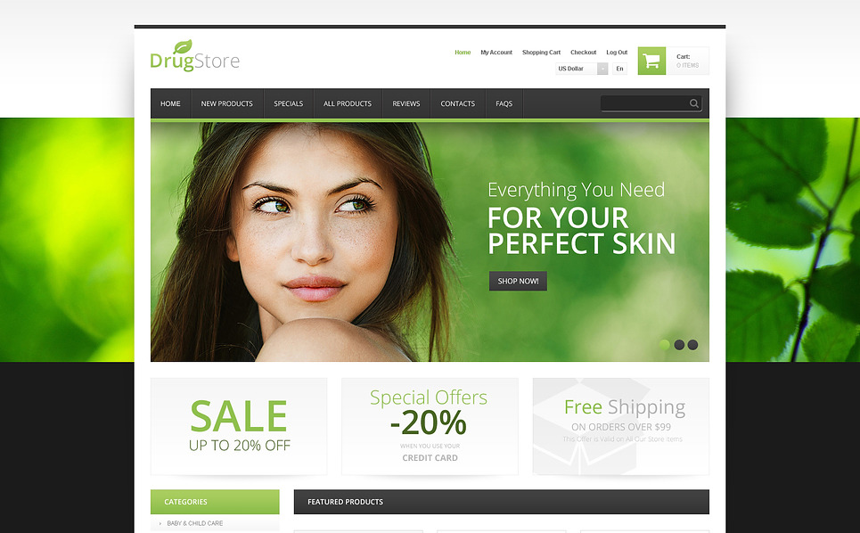 ZenCart Vorlage für Drogerie  New Screenshots BIG