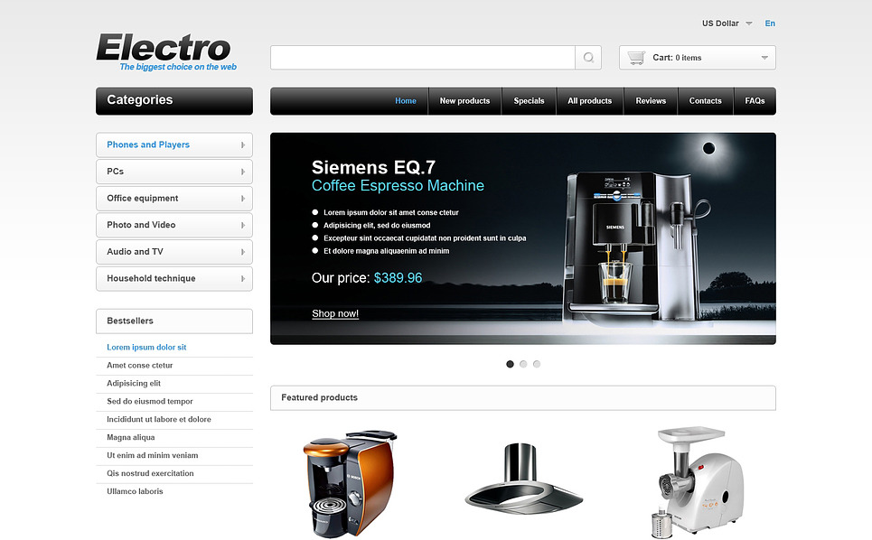 Szablon ZenCart #46973 na temat: sklep elektroniczny New Screenshots BIG